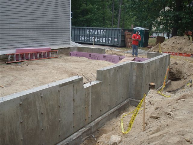 Foundation poured for addition at Bella Tuckers house.